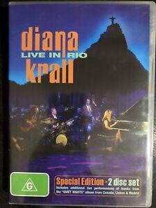 Diana Krall Live In Rio DVD 2 x DVD All Regions PAL