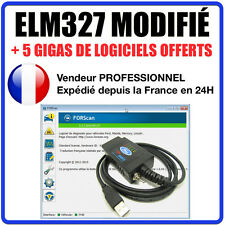 Valise DIAGNOSTIC ELM327 FORD USB MULTIMARQUES + Ford et Mazda / Valise Diag OBD