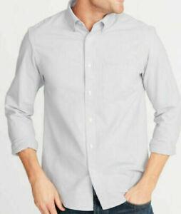 Mens Dress Shirt Large or XL Wood Violet Solid Old Navy Long Sleeve Flex Cotton
