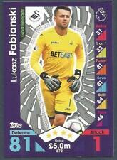 TOPPS MATCH ATTAX 2016-17- #272-SWANSEA CITY-LUKASZ FABIANSKI