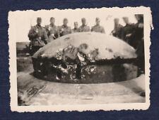 Photo 2 WK France bunker Photo ORIGINALE ca 8,5 cm x 6 cm