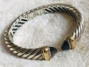 /& Sterling Lobster Clasp Bali Sterling Silver Beads Gen Smoky Quartz Nuggets Bracelet: Smoky Quartz GlassSilver-Plated Oval Bezel Links