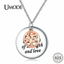 UMODE New Real 925 Sterling Silver Rose Gold Color Tree of Life Pendant