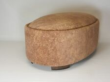 Suede Oval Ottoman