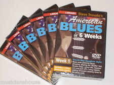 6 DVD SET LICK LIBRARY STEVE TROVATOS AMERICAN BLUES Guitar 1 2 3 4 5 Weeks DVD
