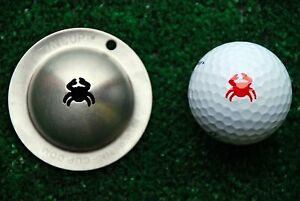 Tin Cup Crab Golf Ball Marking Tool, just place on golf ball,NEW TOP SELLER