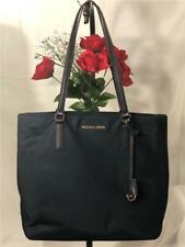 "MICHAEL KORS ""Morgan"" Navy Blue Nylon Water Resistant Shopper Tote Handbag"