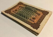 More details for german banknote 1/4 bundle. 25 x 1 milliom mark. dated 1923. pick 86.