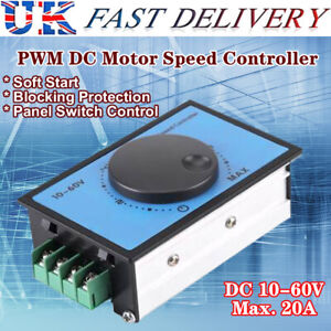 DC10-60V Soft Start Speed Controller Panel Switch control PWM For DC Brush Motor