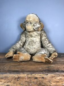 """Antique Merrythought Granpop Vintage Teddy Bear Very Rare Large 25"""" Example"""