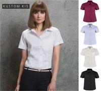Kustom Kit - Ladies Short Sleeve Corporate Oxford Shirt with Pocket - Cotton