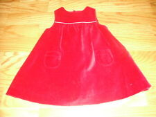 BOUTIQUE  JACADI 3M 3 MONTHS RED VELOUR DRESS