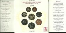 INGHILTERRA Great Britain 1986 ROYAL MINT 8 COIN BRILLIANT UNCIRCULATED SET