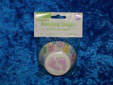 WILTON BABY FEET STANDARD BAKING CUPS CUPCAKE LINERS 75 COUNT NEW!!!!!!!!!!!!!!!