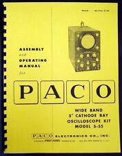 "Paco S-55 S55 Wide Band 5"" Oscilloscope Kit Manual"