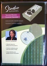 Studio Sculpey Texture Makers COUNTRY SQUARES Polymer Clay Design Donna Dewberry