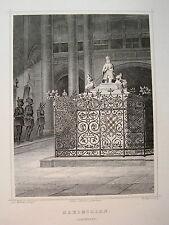 Kaiser Maximilian  Denkmal Innsbruck  Österreich  echter alter Stahlstich  1844