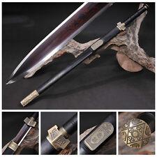 "High Quality Chinese Sword ""Qin Jian""(劍) Red Pattern Steel Sword Sharp Blade#316"