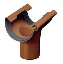 Naissance à joint  DN 125/75, plastique marron, demi-rond, gouttière de pluie,