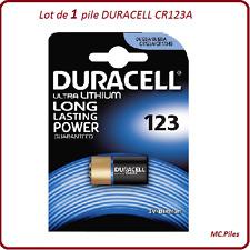 1 pila CR123A 3V especial cámara fotos Duracell
