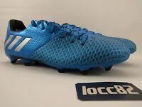 Adidas Messi 16.2 FG Soccer Cleat sz 8 Men s AQ3111 Shock Blue Metallic  Silver d11574859d1f2
