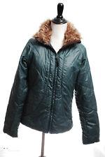 GoLite Fur Puffer Jacket Poly Down Insulated Full Zip Green Ski Snowboard S