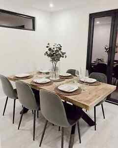 Dining Table 120x76 cm Solid Mango Wood Industrial Style kitchen dinner table