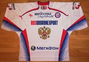Game worn hockey jersey RUSSIA National Team 2009 - 2010 LUTCH Vishnevsky NHL