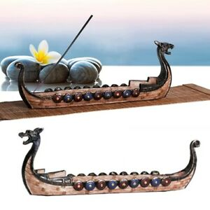 Retro Dragon Boat Incense Burners Traditional The Vikings Incense Stick Holder