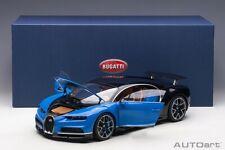 Autoart BUGATTI CHIRON FRENCH RACING BLUE/ATLANTIC BLUE 1/12 Scale New Release!