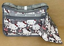Hello Kitty x LeSportsac 45th Shoulder Bag DELUXE EVERYDAY BAG Gray 7507 G630