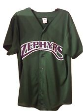VINTAGE 2003 New Orleans ZEPHYRS JERSEY SIZE LARGE  SEWN ON LETTERING BABY CAKES