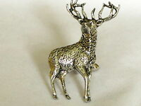 Full Stag Deer Hunting Large Fine Pewter Cufflinks Gift Mens Jewellery Boxed