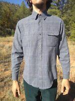 Vintage WALT WEAR Wool Flannel  Shirt Plaid Mens M USA Contrast Collar