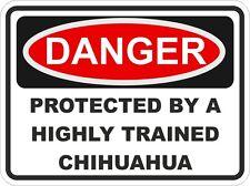Dog Breed CHIHUAHUA Danger Sticker Pet for Bumper Locker Car Door Locker Home