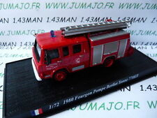 voiture 1/72 DEL PRADO Pompiers du Monde BERLIET Fourgon pompe tonne 770KB 1980