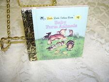 """LITTLE LITTLE GOLDEN BOOK BABY FARM ANIMALS 3"""" X 3"""""""