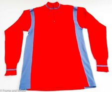 Europe Cycles Cycling Jersey long sleeve men M wool classic Eroica red