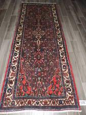 4x9ft. Handmade Malayer Wool Oriental Runner
