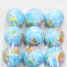 Mini Funny World Map Foam Earth Globe Stress Bouncy Ball Atlas Geography Toy New