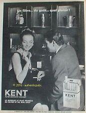 PUBLICITE KENT CIGARETTES MARIAGE LE PLUS HEUREUX DE 1965 FRENCH AD PUB VINTAGE