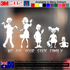 Zombie Ate Stick Family Sticker Decal Vinyl  for Car PS3 PS4 Xbox 11cm x 21cm