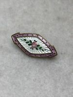 Antique Guilloche Enamel Brooch 1920s Edwardian Jewellery Jewelry Retro Pin Old