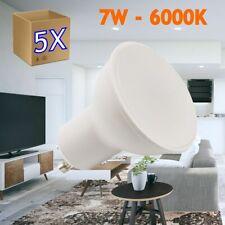 5x Bombilla led GU10 de 7W equivalente a 50W, 120º de apertura, en 6000k