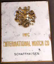 Antigüedades werbeschild IWC International Watch Co. Schaffhausen para 1920/1930