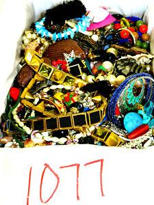 MIXED JUNK SCRAP CRAFT JEWELRY FASHION, WATCH 10 LBS LOT #1077