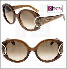 SALVATORE FERRAGAMO LIMITED SIGNATURE Brown Crystal SF811SR Sunglasses 811