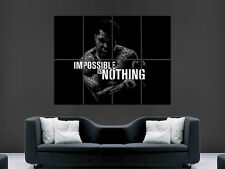 MUHAMMAD ALI POSTER IMPOSSIBLE IS NOTHING WALL ART MADE UP OF  WORDS  BOXING