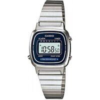 Casio LA670WA-2 Ladies Silver Classic Stainless Steel Digital Watch Alarm Timer