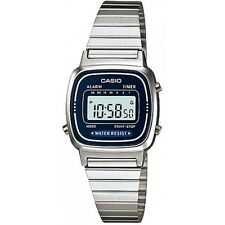 Casio LA670WA-2 Ladies Silver Classic Stainless Steel Digital Watch Alarm Timer